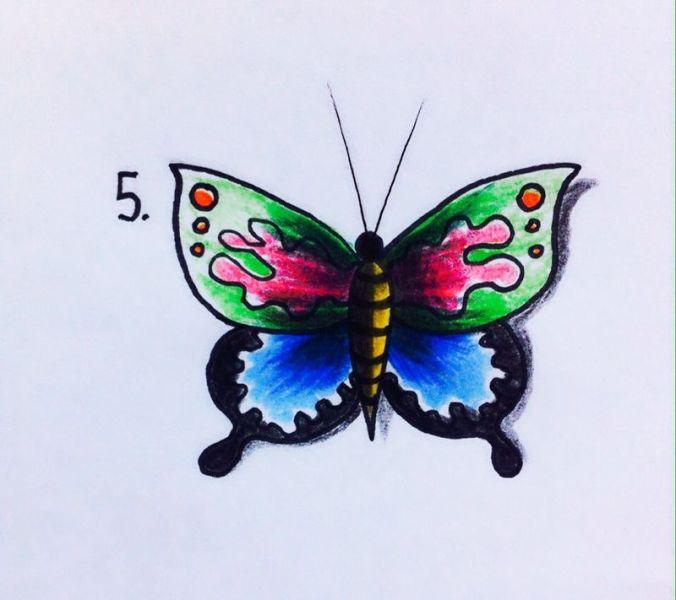 Come disegnare una farfalla in 4 mosse disegno da for Sito per disegnare